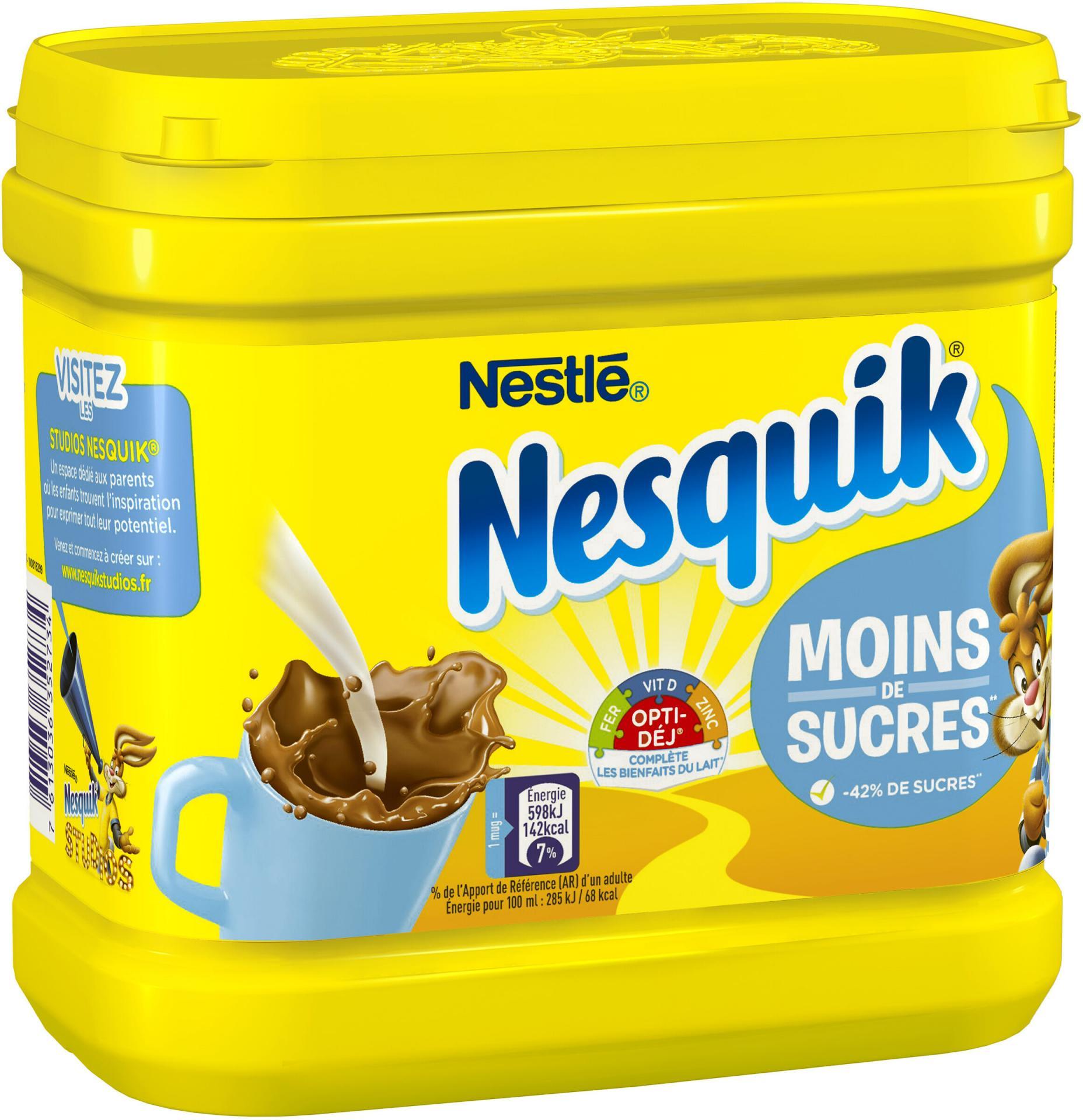 Nesquick moins de sucres
